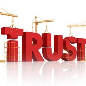 blogging builds trust