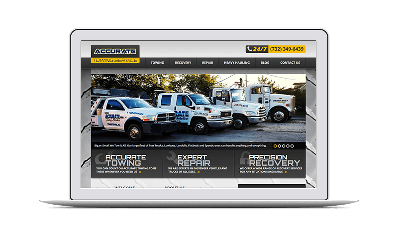 website design & marketing for transportation company