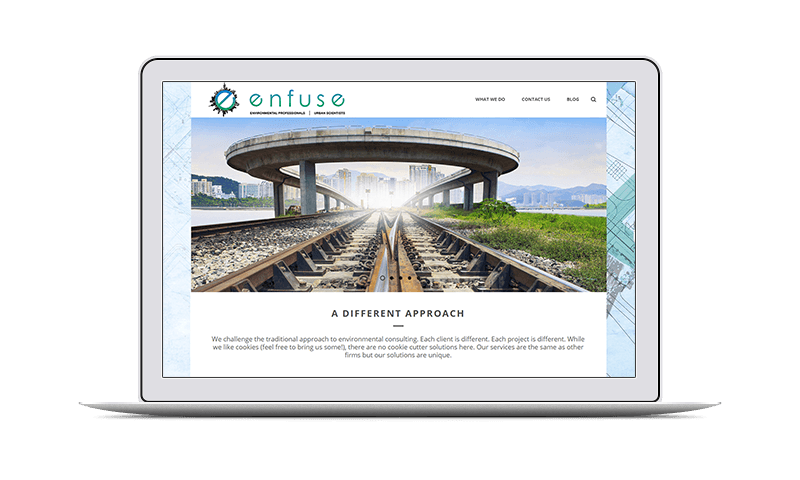 environmental company website design
