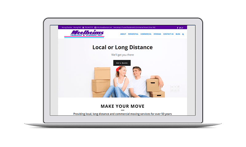 moving company website design