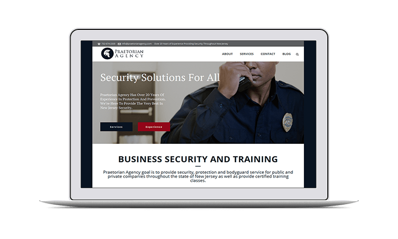 website design for security agency