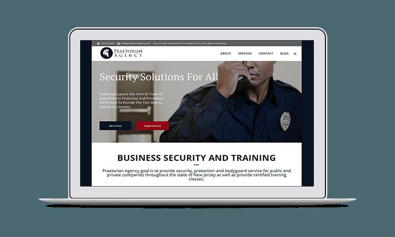 website design for security agency