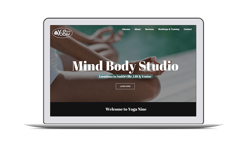 yoga studio marketing and web design