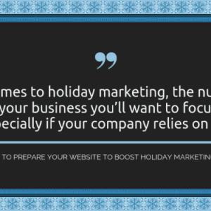 holiday marketing website