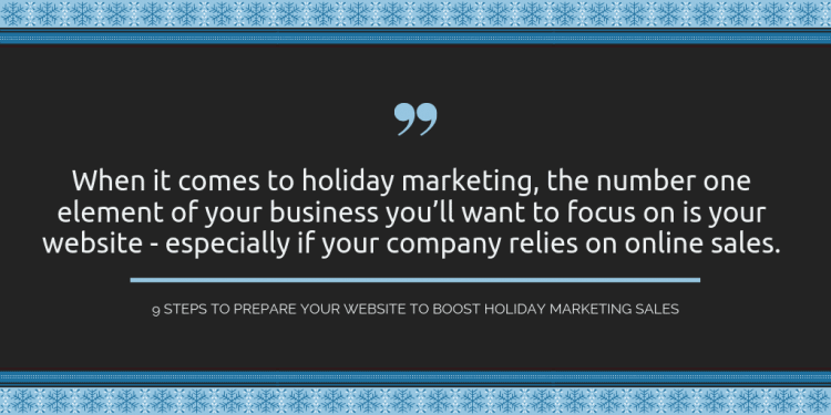 holiday marketing website