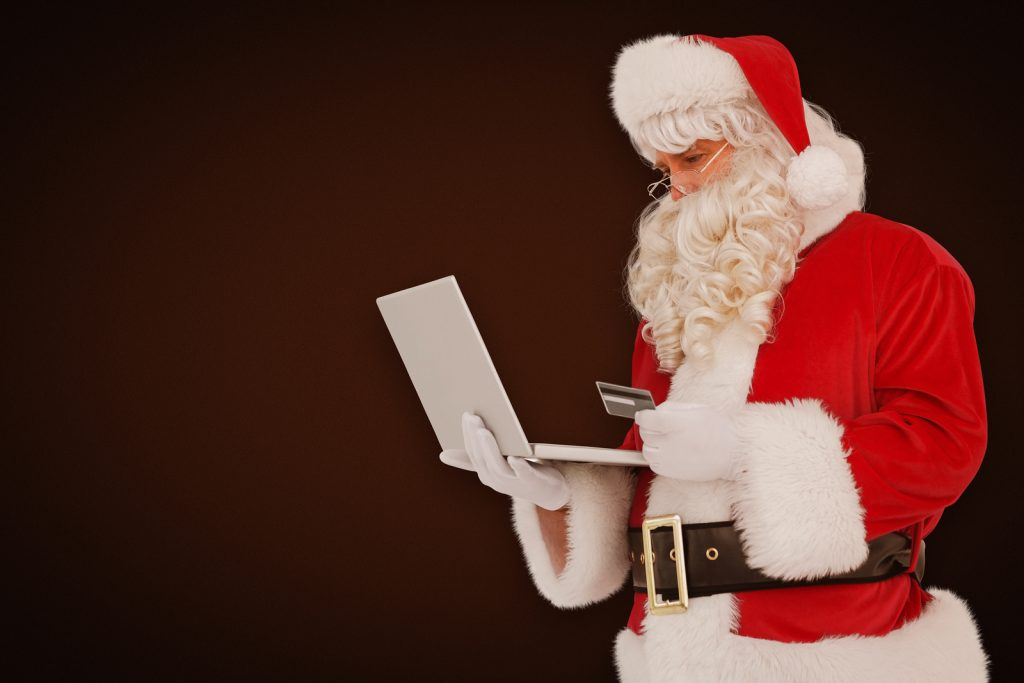 Santa shopping online