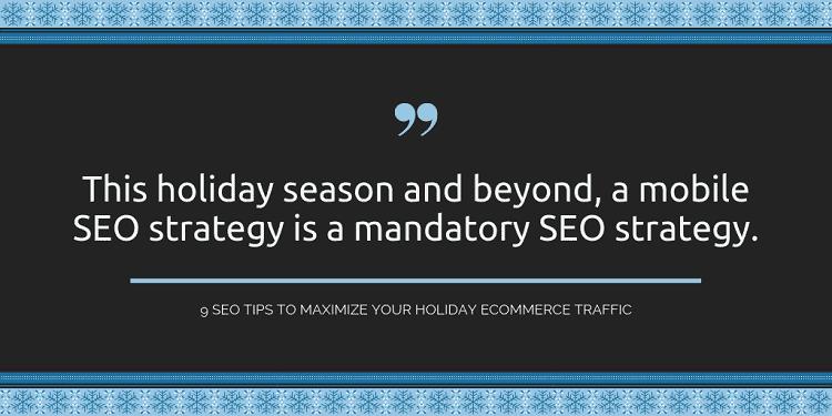 holiday seo strategy