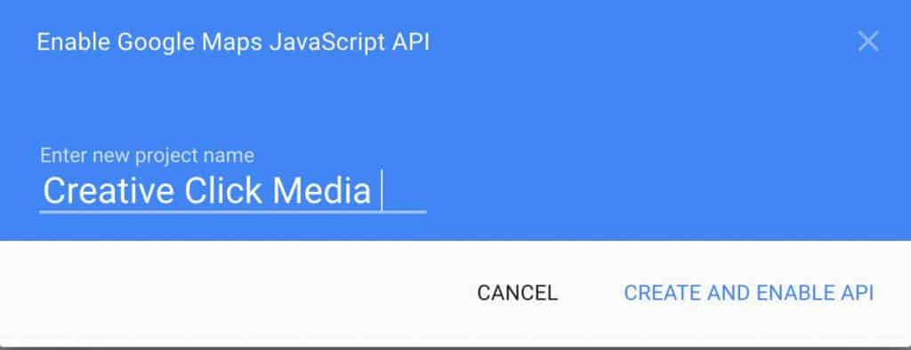Google Maps API key
