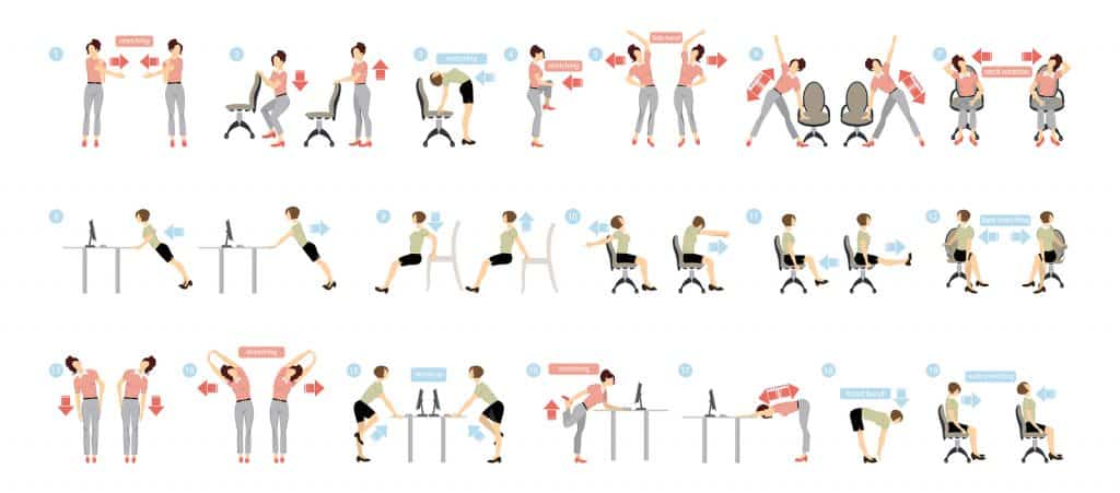 Workplace Yoga Poses