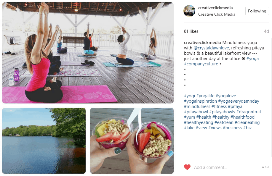 company culture instagram
