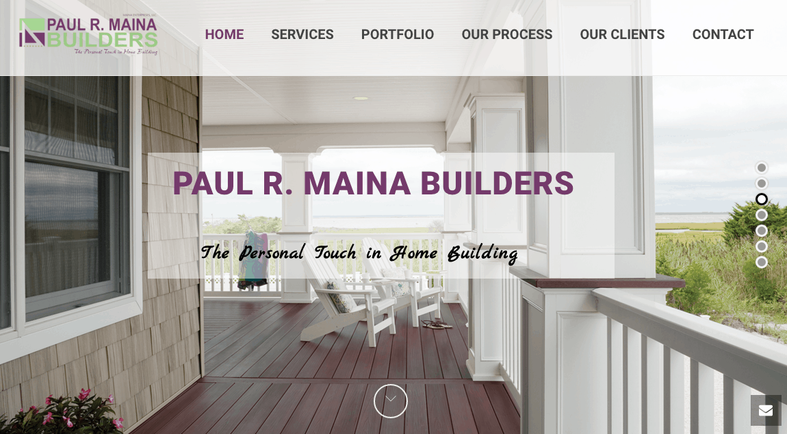 contractor marketing website