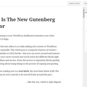 gutenberg update