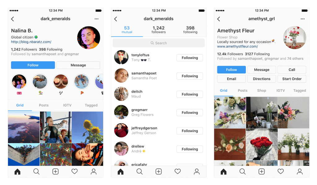 instagram profile updates 2018