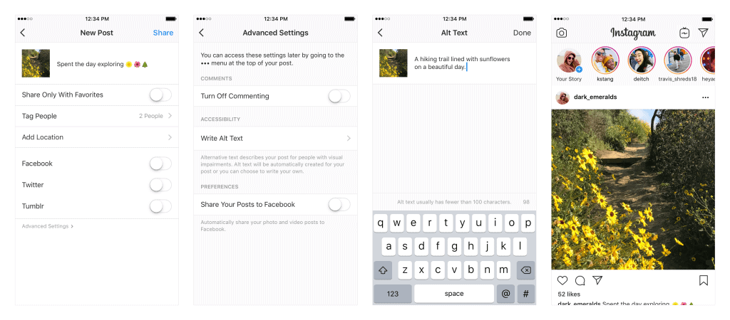 instagram for the visually impaired