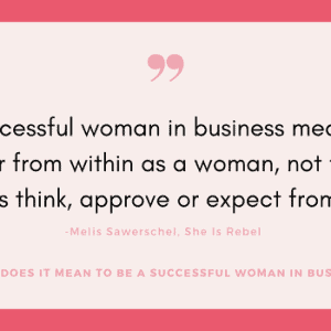 successful woman in business
