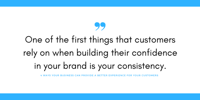 provide a better customer experience