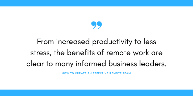 remote team business