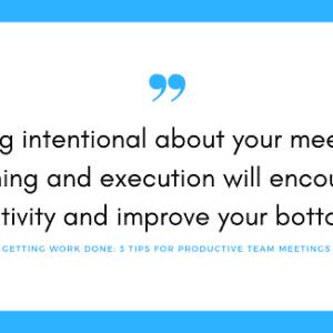 team meeting productivity