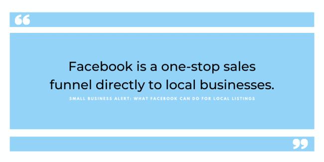 facebook local listings