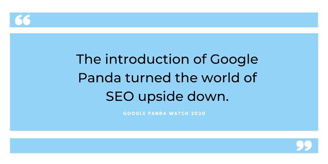 google panda watch 2020