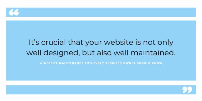 website maintenance tips